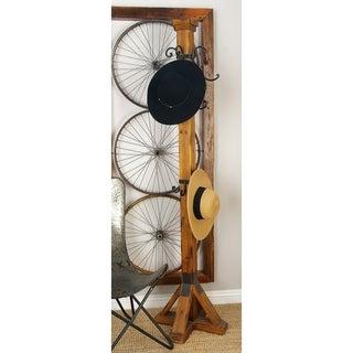 Wood and Metal Coat Rack