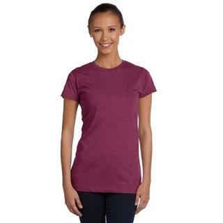 Juniors' Vintage Fine Vintage Burgundy Jersey T-Shirt