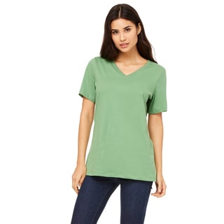 Missy's Girl's Leaf Relaxed Jersey Short-Sleeve V-Neck T-Shirt