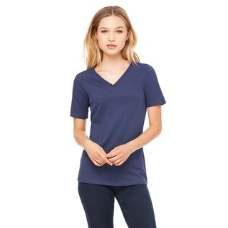 Missy's Girl's Navy Relaxed Jersey Short-sleeve V-neck T-shirt