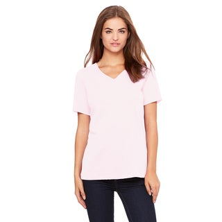 Missy's Girls' Pink Cotton Relaxed Jersey Short-sleeve V-neck T-shirt