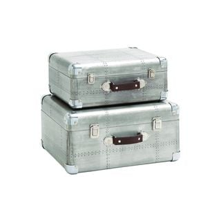 Wood, Aluminum 16-inch and 14-inch Cases Set of 2