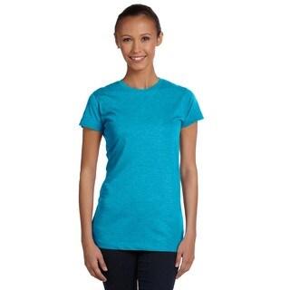 Juniors' Vintage Turquoise Fine Jersey T-shirt