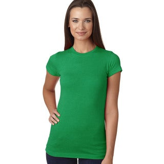 Juniors' Vintage Green Fine Jersey T-Shirt