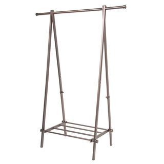 Bronze A-Frame Garment Rack with Shelf