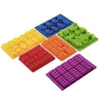 LEGO-shaped 6-piece Silicone Baking Molds Set
