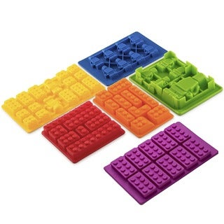 LEGO-shaped 6-piece Silicone Baking Molds Set