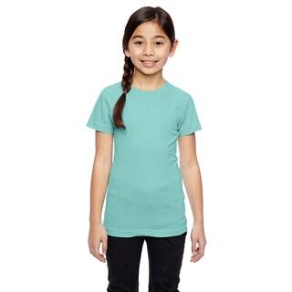 Girls' Green Cotton Jersey T-shirt