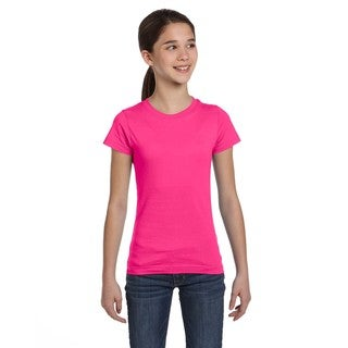 Fine Girl's Hot Pink Jersey T-Shirt