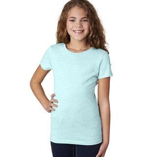 Next Level Girls' The Princess CVC T-Shirt Ice Blue
