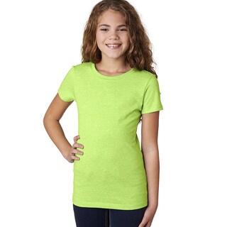 Next Level Girls' The Princess Neon Heather Green 60/40 CVC T-shirt