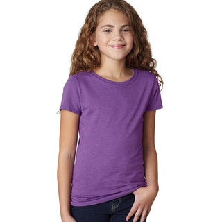 Next Level Girls' The Princess Purple Berry CVC T-shirt