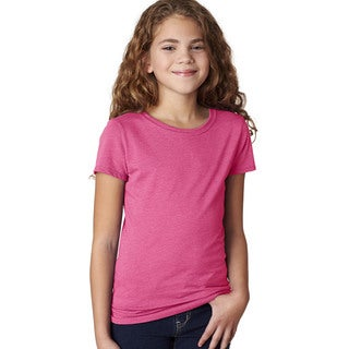 Next Level Girls' The Princess Raspberry CVC T-shirt