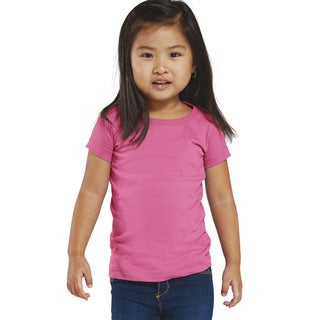 Girls' Raspberry Cotton Jersey Longer-length T-shirt
