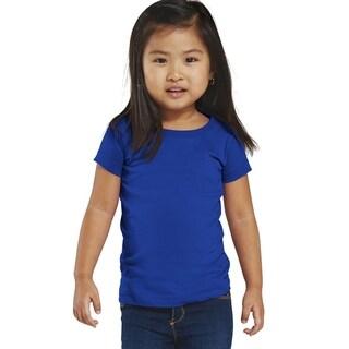 Fine Girl's Royal Jersey Longer Length T-shirt