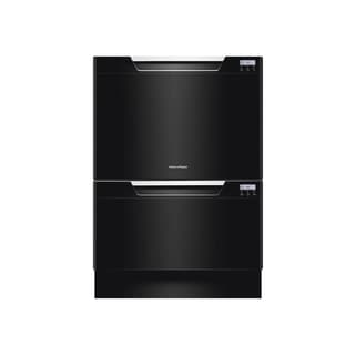 Fisher & Paykel DishDrawer Series Black Semi-Integrated Double Drawer Dishwasher