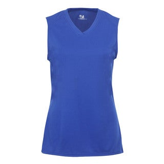 B-Core Performance Girl's Solid Color Royal Lap-neck Sleeveless T-shirt