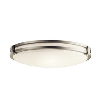 Kichler Lighting Contemporary 3-light Brushed Nickel Fluorescent Flush Mount