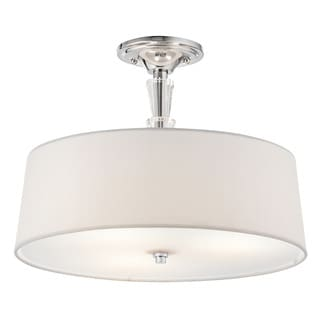 Kichler Lighting Crystal Persuasion Collection 3-light Chrome Semi-Flush Mount