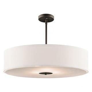 Kichler Lighting Transitional 3-light Olde Bronze Pendant/Semi-Flush Mount