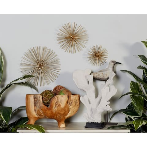 Set of 3 Contemporary 6, 9, and 12 Inch Star Wall Decor by Studio 350