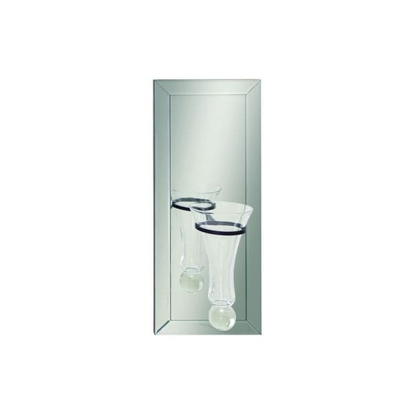 Shop Blackclearsilver Glass Wall Vase Free Shipping Today