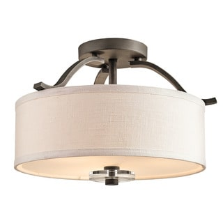 Kichler Lighting Leighton Collection 3-light Olde Bronze Semi-Flush Mount
