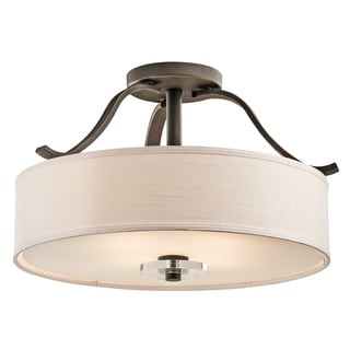 Kichler Lighting Leighton Collection 4-light Olde Bronze Semi-Flush Mount