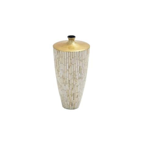 Gold Resin/Polystone Laquered Table Vase