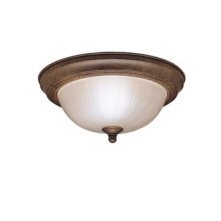 Kichler Lighting Transitional 2-light Tannery Bronze Flush Mount