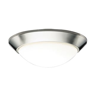 Kichler Lighting Ceiling Space Collection 2-light Brushed Nickel Flush Mount
