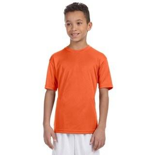 Boys' Team Orange Polyester Athletic Sport T-shirt