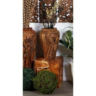 Teak Wood 19-inch Wide x 39-inch High Vase