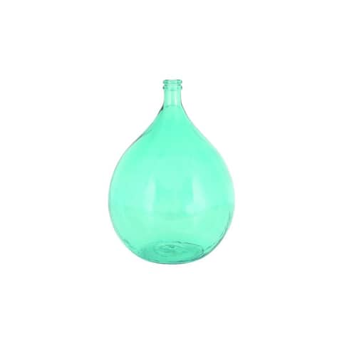 Copper Grove Sharbot Turquoise Glass Cylindrical Vase