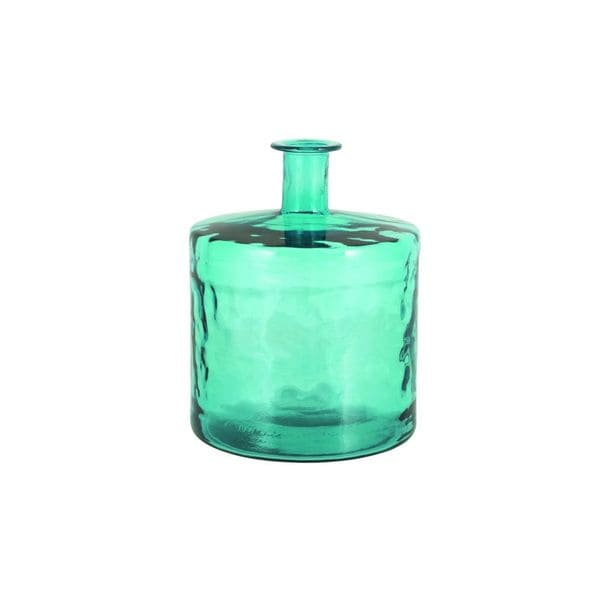 Turquoise Glass 17-inches High x 14-inches Wide Vase