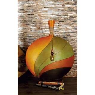 Modern Reflections Multicolored Polystone 20-inch High x 17-inch Wide Decorative Spouted Vase