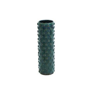 Green Stoneware Cylindrical Table Vase