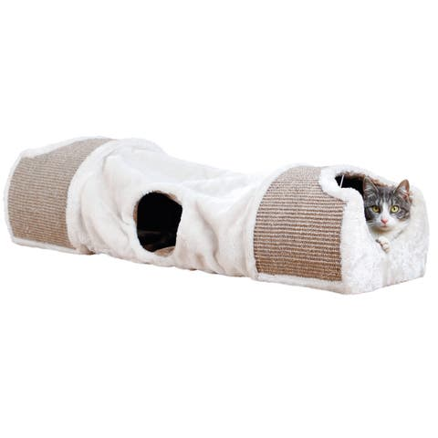 TRIXIE Cat Plush Nesting Tunnel and Cat Scratcher