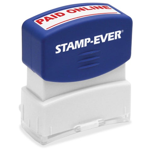U.S. Stamp & Sign PAID ONLINE Pre-inked Stamp - Red