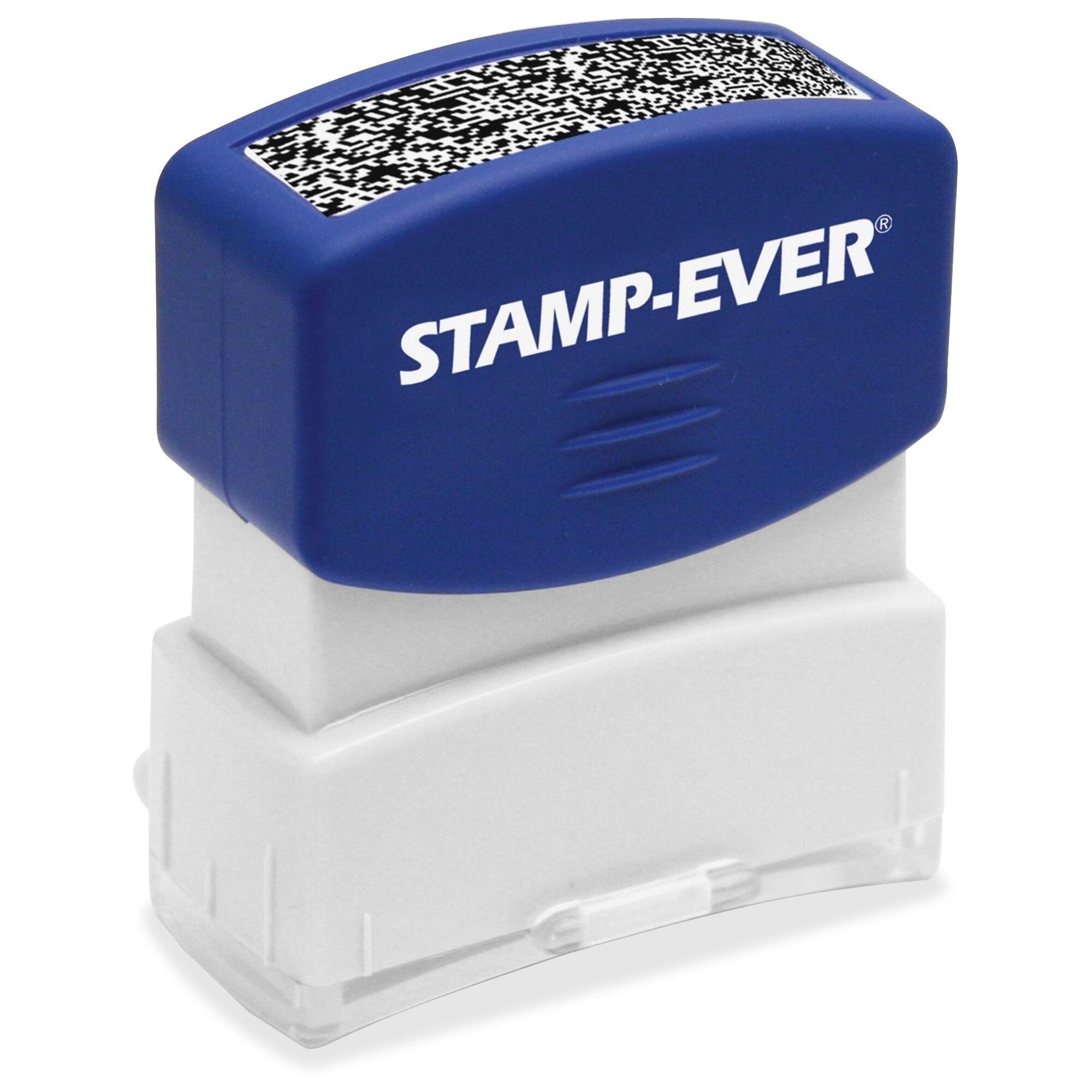 U.S. STAMP & SIGN Pre-inked Security Block Stamp - Blue (...