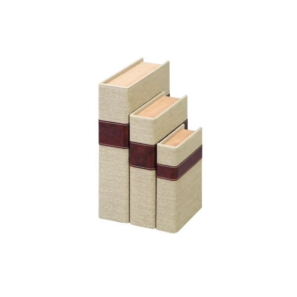 Wooden Burlap Boxes (7-inchH x 11-inch x 9-inch ) Pack of 3