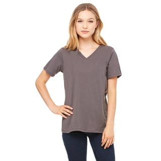 Missy's Girls' Asphalt Jersey Relaxed Short-sleeved V-neck T-shirt