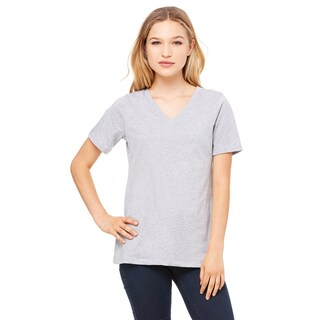 Missy's Girl's Athletic Heather Relaxed Jersey Short-sleeve V-neck T-shirt