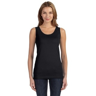Juniors' Fine Jersey Black Longer Length Tank