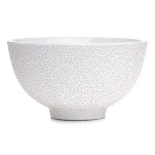 Set of 4 Santos White Textured Bowls