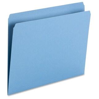 Smead 11pt 1-Ply Tab Str-Cut Color File Folders - Blue (100/Box)