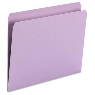 Smead 11pt 1-Ply Tab Str-Cut Color File Folders - Lavender (100/Box)