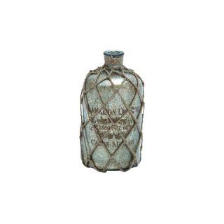 Glass/Jute 10-inch x 5-inch Bottle