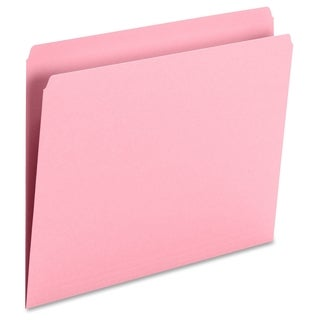 Smead 11pt 1-Ply Tab Str-Cut Color File Folders - Pink (100/Box)