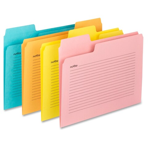 Smead SuperTab Notes File Folders - Assorted (12/Pack)
